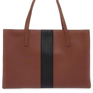 NEW Vince Camuto Leather Black Stripe Bag
